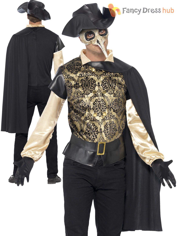 Adult Mens Halloween Masked Vampire Venetian Masquerade