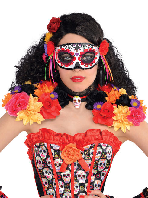 Day Of The Dead Epaulettes & Collar