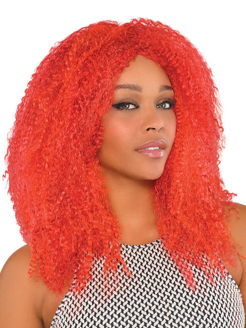 Red Crimped Wig