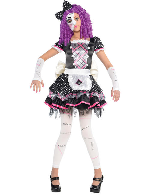 Girl's Damaged Doll Costume