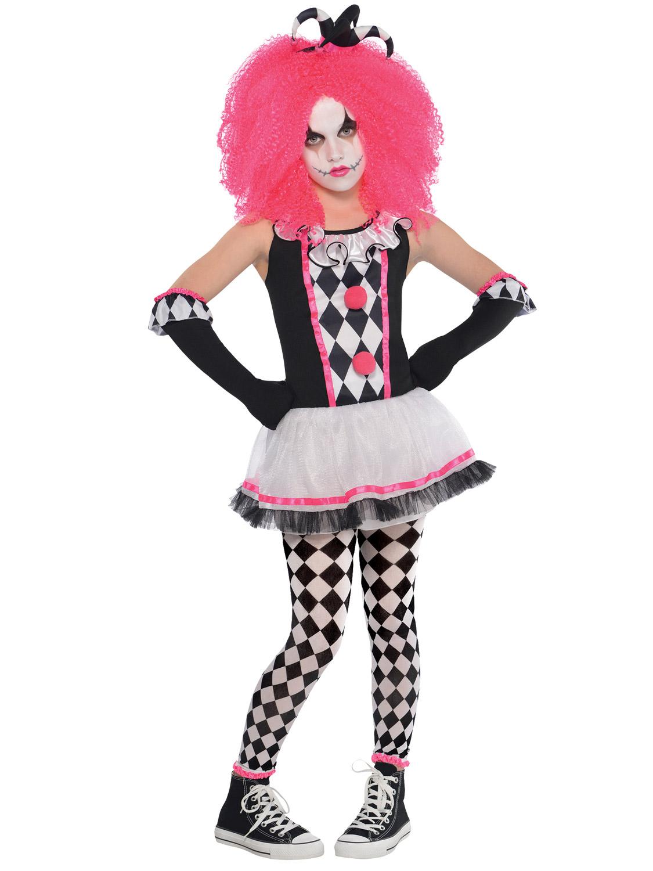 girls harlequin honey clown costume halloween circus fancy dress costume kids image 2 - Girl Clown Halloween Costumes