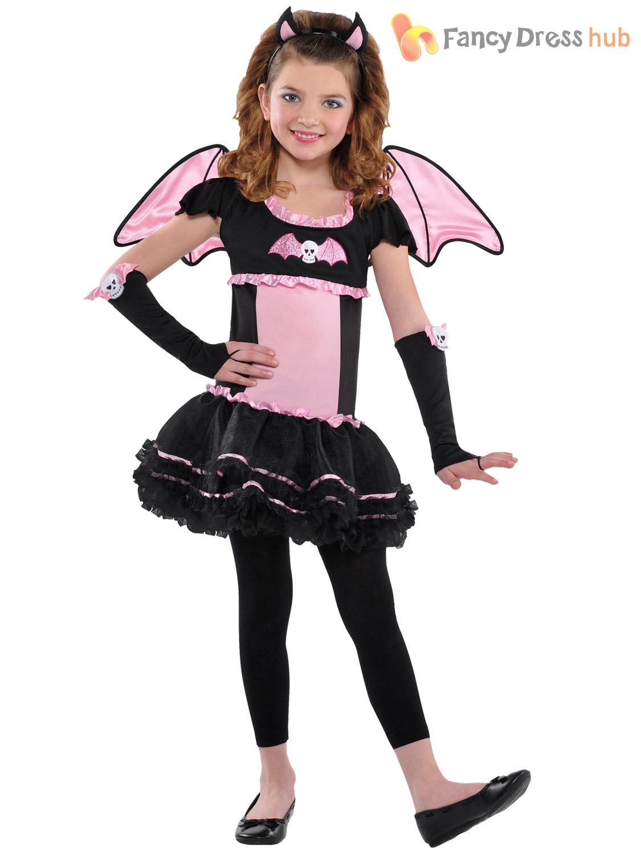 girls ballerina bat tutu halloween costume age 3