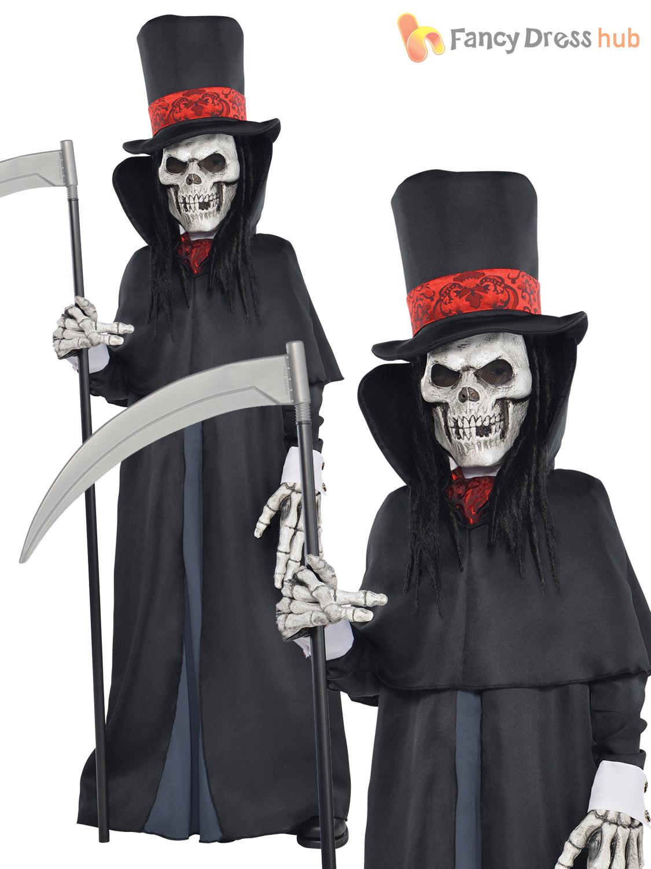 dapper death costume boys grim reaper fancy dress skeleton halloween