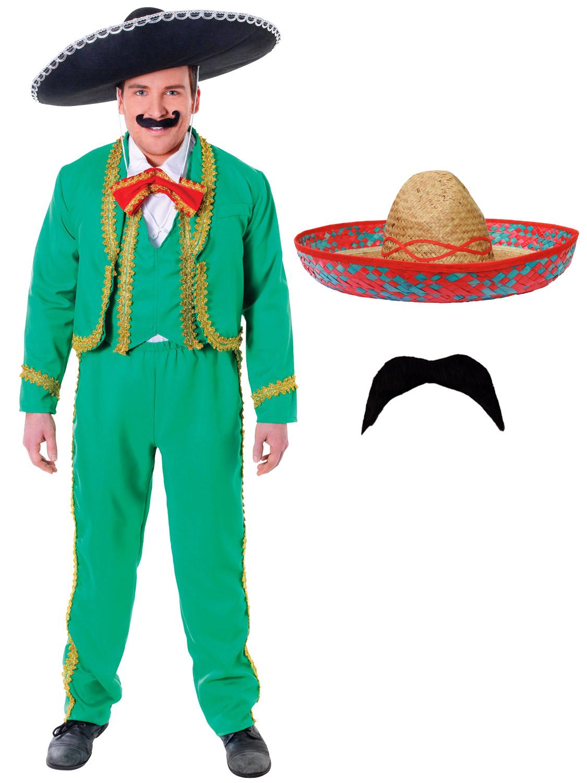 Mens Mexican Singer Mariachi Dorito Tortilla Stag Fancy Dress ...