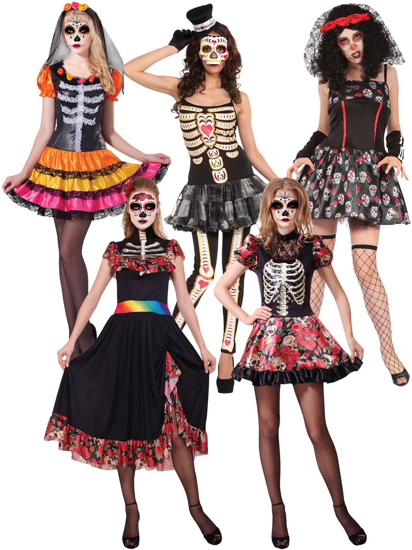 Ladies Clown Fancy Dress Costume Multi-colour Halloween Outift /& Hat UK 10-14