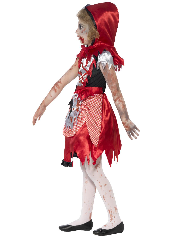 Girls Zombie Princess Costume Horror Fairytale Halloween Fancy ...