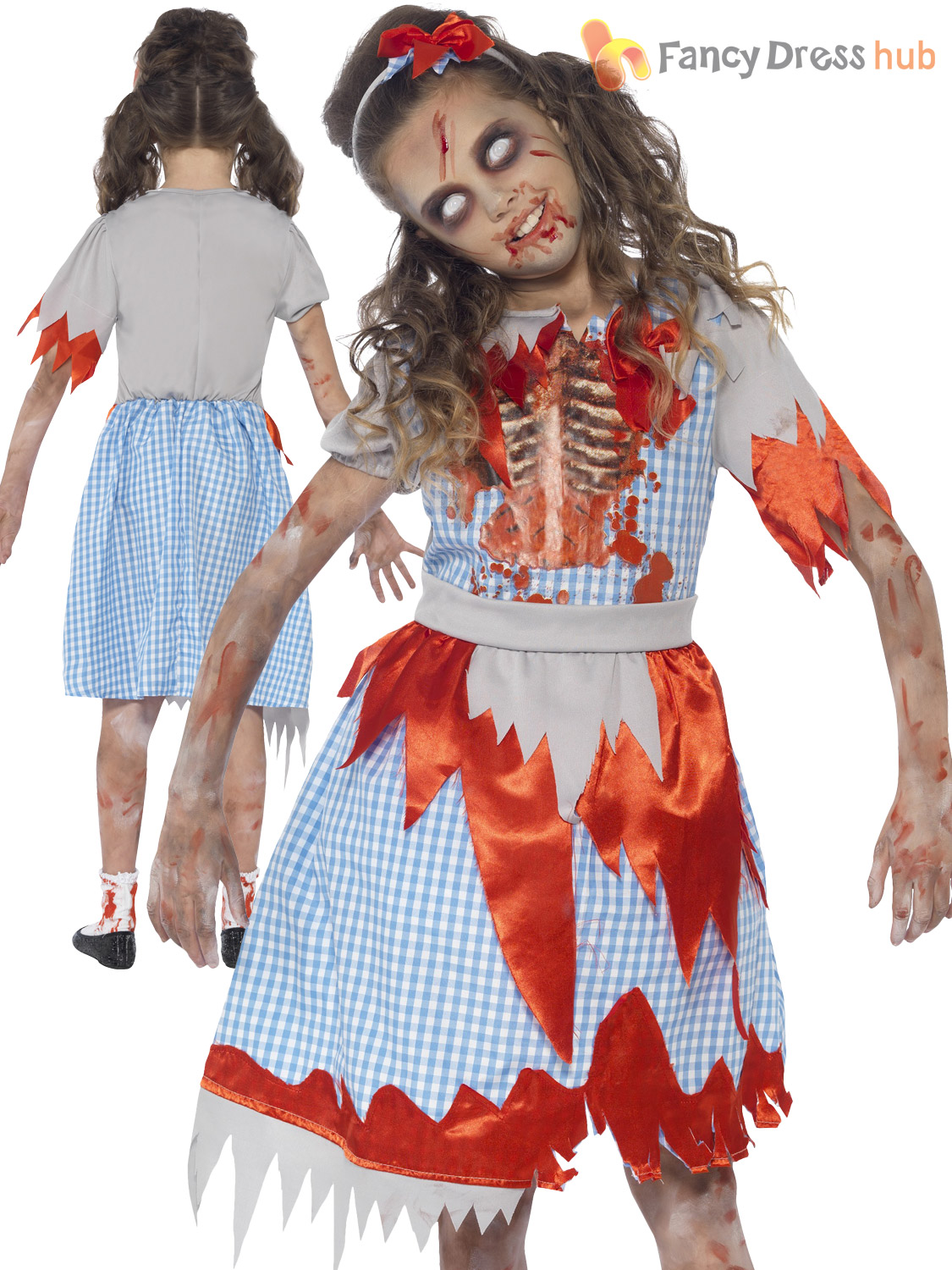 Girls-Zombie-Princess-Costume-Horror-Fairytale-Halloween-Fancy-  sc 1 st  eBay & Girls Zombie Princess Costume Horror Fairytale Halloween Fancy Dress ...