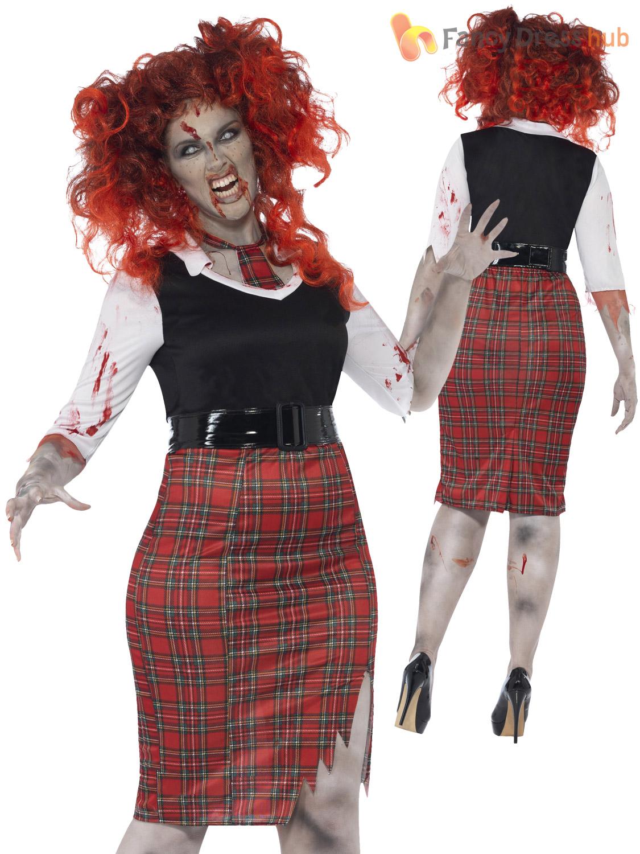 3e318510221 Ladies Plus Size Halloween Costume Zombie Nurse Schoolgirl Vamp ...