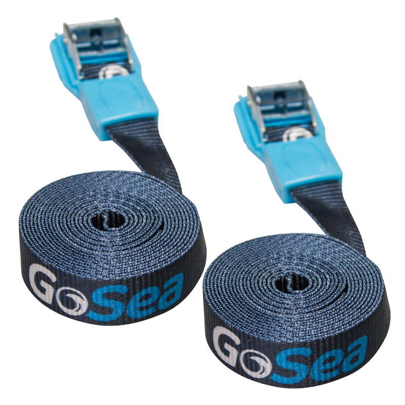 GoSea 3m Tie Down Straps with Rubber Buckle Guard
