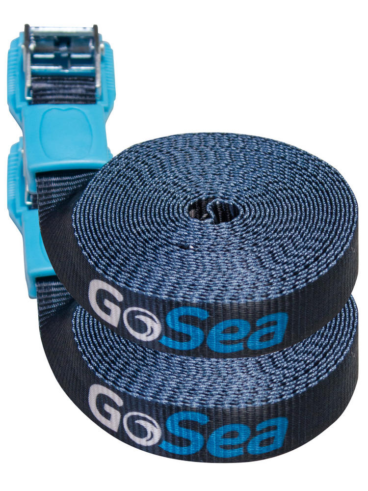 GoSea 5m Tie Down Straps with Rubber Buckle Guard