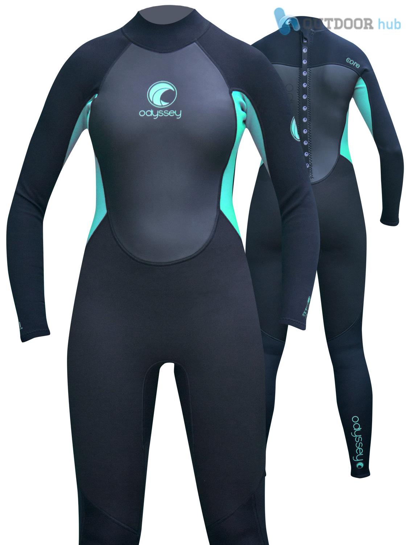 Odyssey-Core-3-2mm-Ladies-Womens-Full-Wetsuit-Surf-Swim-Kayak-Long-Wet-Suit-6-20 thumbnail 3
