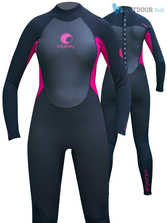Odyssey-Core-3-2mm-Ladies-Womens-Full-Wetsuit-Surf-Swim-Kayak-Long-Wet-Suit-6-20 thumbnail 13