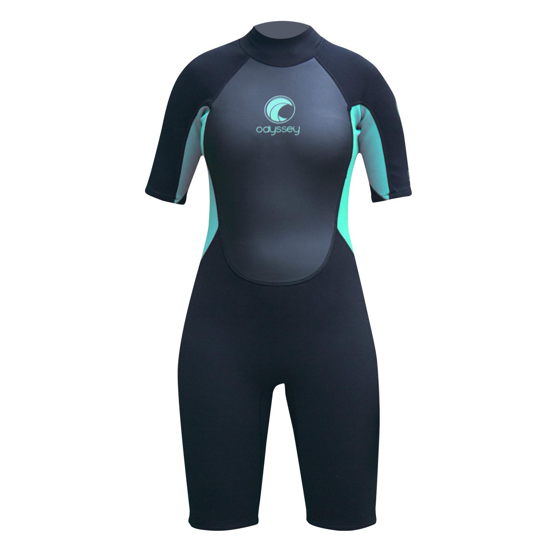 Odyssey-Core-3-2mm-Ladies-Womens-Shorty-Wetsuit-Surf-Swim-Kayak-Shortie-Wet-Suit thumbnail 3
