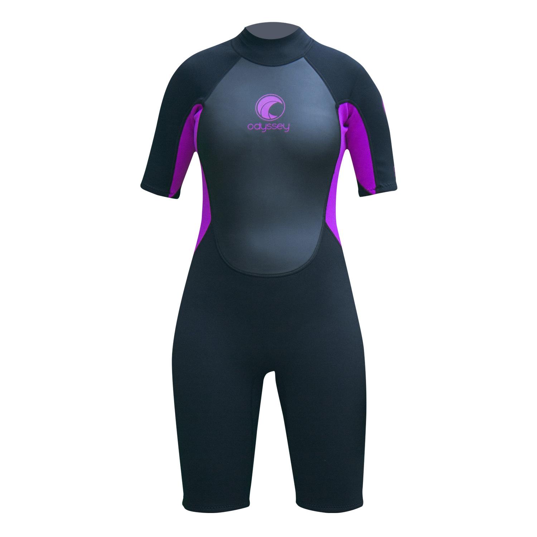 Odyssey-Core-3-2mm-Ladies-Womens-Shorty-Wetsuit-Surf-Swim-Kayak-Shortie-Wet-Suit thumbnail 18