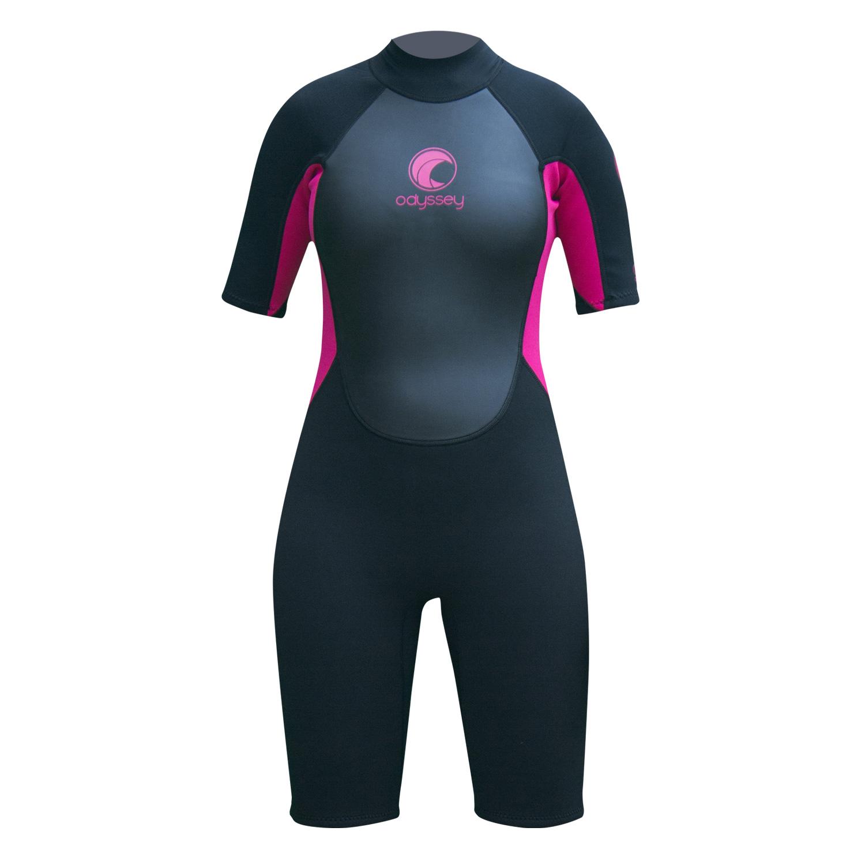 Odyssey-Core-3-2mm-Ladies-Womens-Shorty-Wetsuit-Surf-Swim-Kayak-Shortie-Wet-Suit thumbnail 12