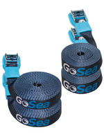 GoSea Tie Down Straps with Rubber Buckle Guard