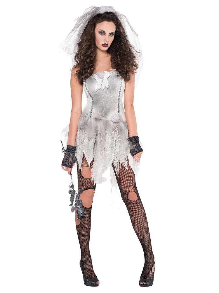 Ladies Drop Dead Bride Costume