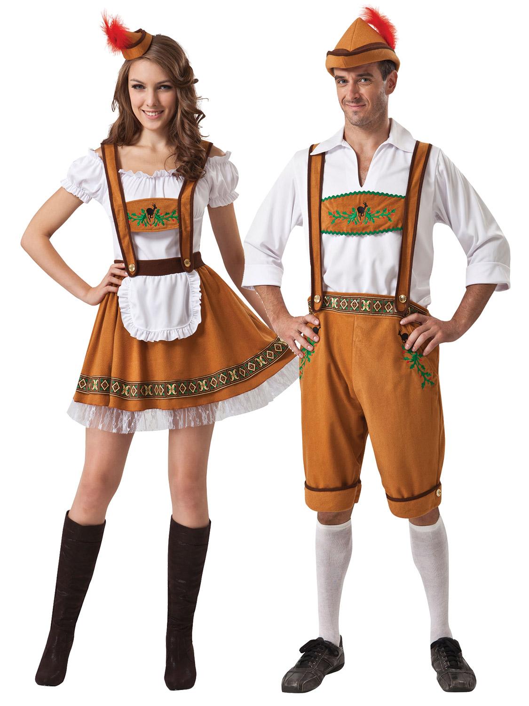 Ladies Fever Deluxe Oktoberfest Fancy Dress German Bavarian Beer Maid Costume