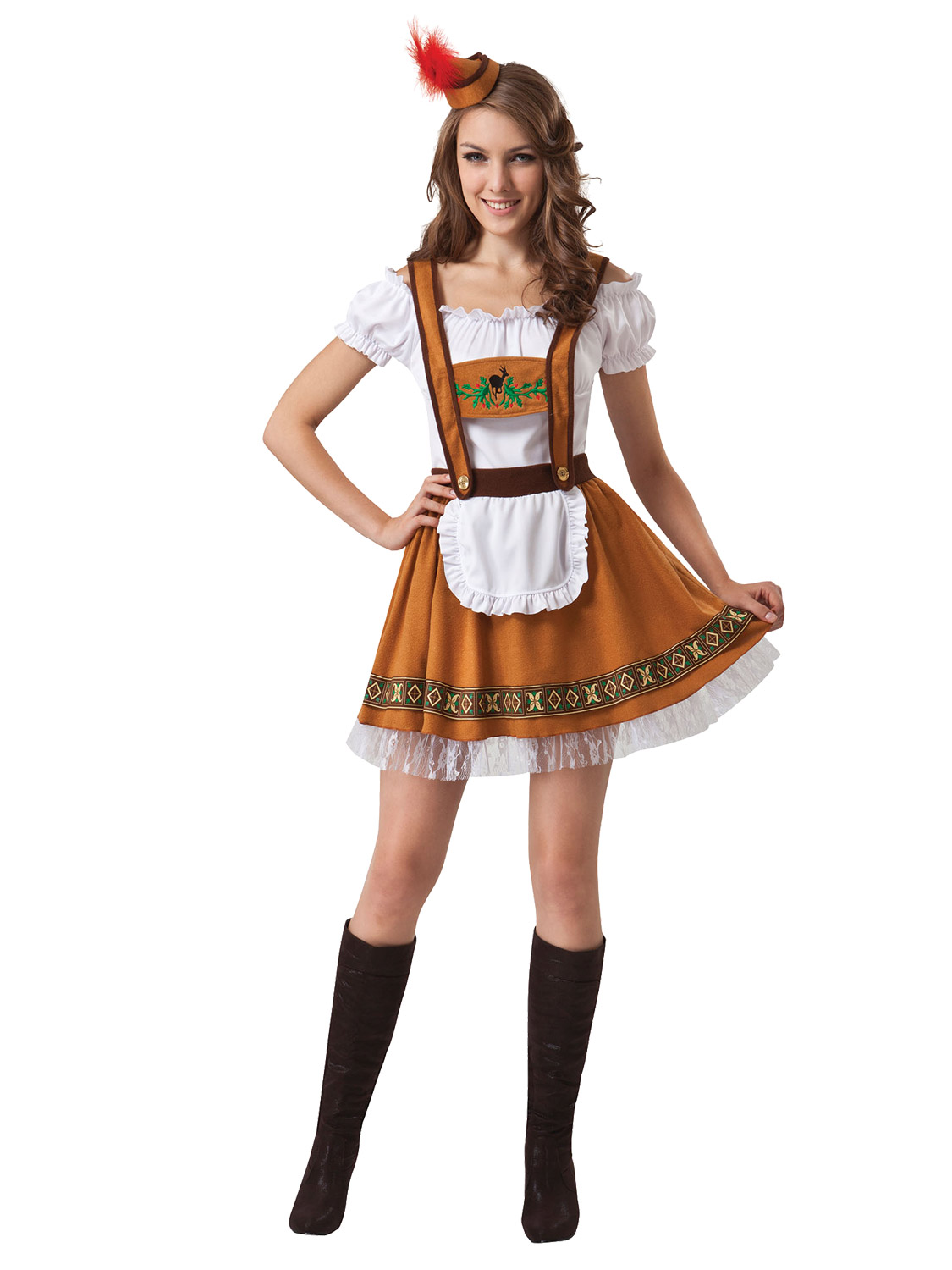 Blu//Blk German Beer Girl Costume Dress Bar Maid fo Bavarian Wench Oktoberfest