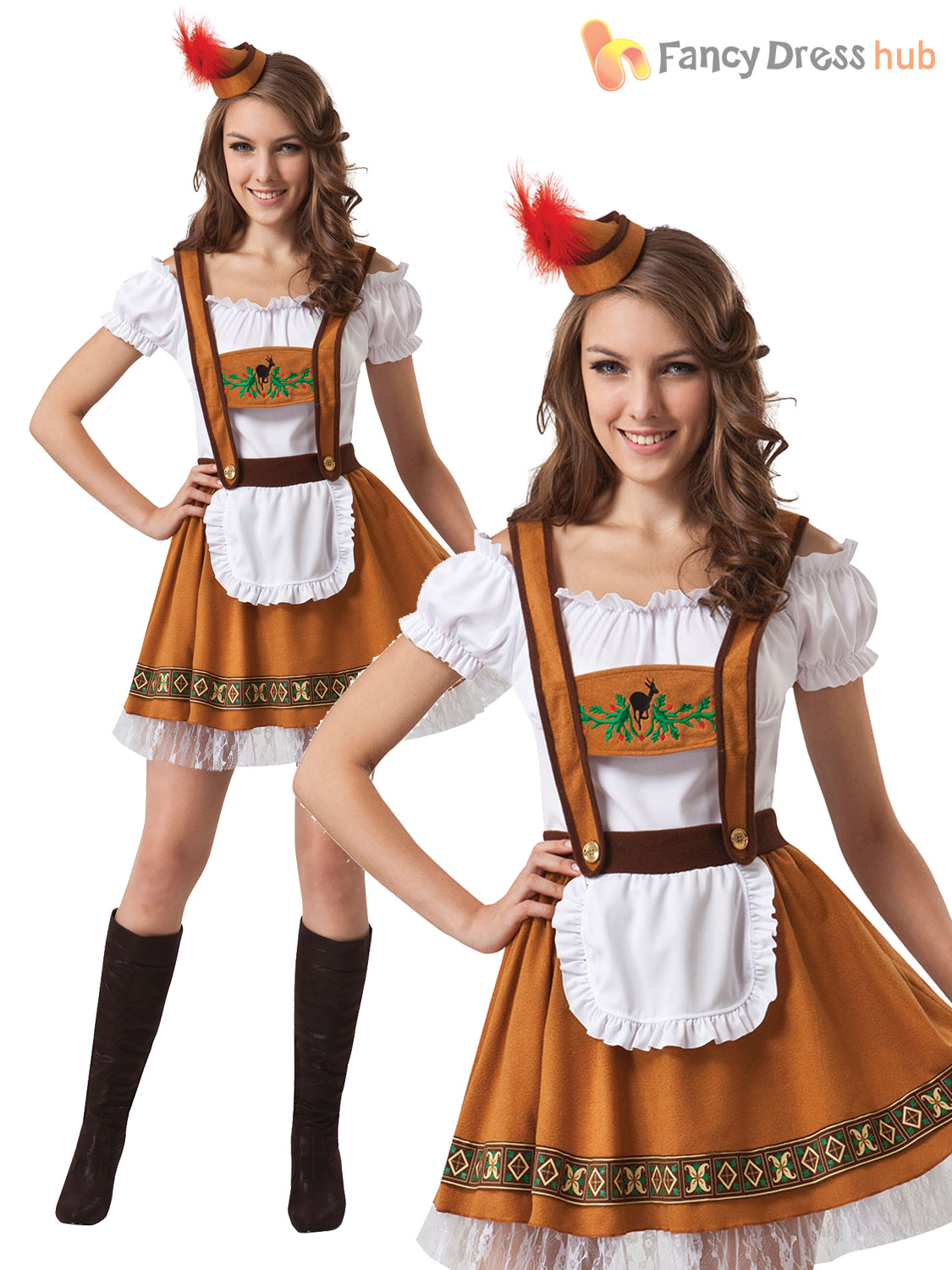 Mens-Ladies-Oktoberfest-Bavarian-Fancy-Dress-Costume-Couples-  sc 1 st  eBay & Mens Ladies Oktoberfest Bavarian Fancy Dress Costume Couples German ...