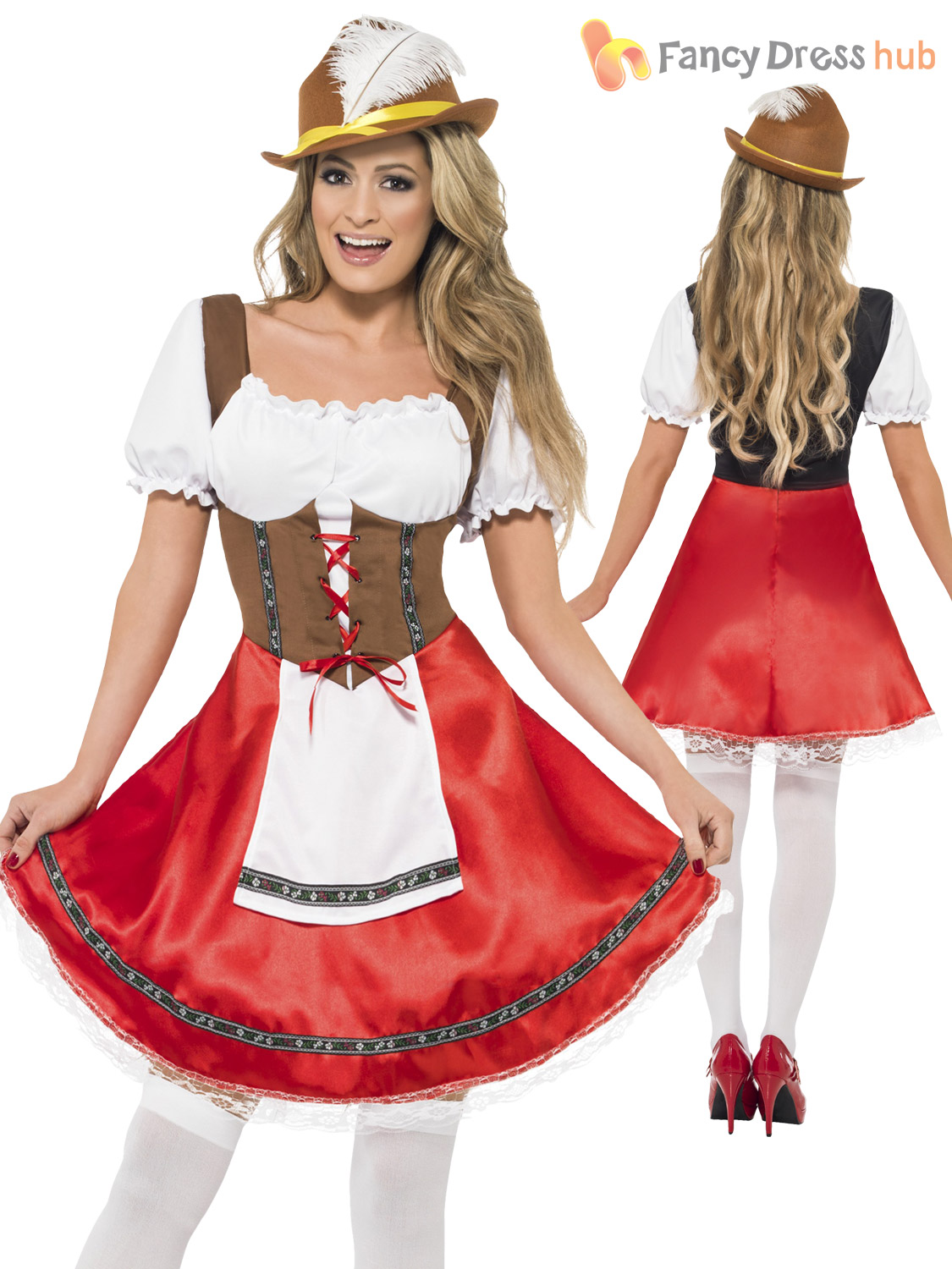 Ladies-Oktoberfest-Fancy-Dress-German-Bavarian-Octoberfest-Beer-  sc 1 st  eBay & Ladies Oktoberfest Fancy Dress German Bavarian Octoberfest Beer Maid ...