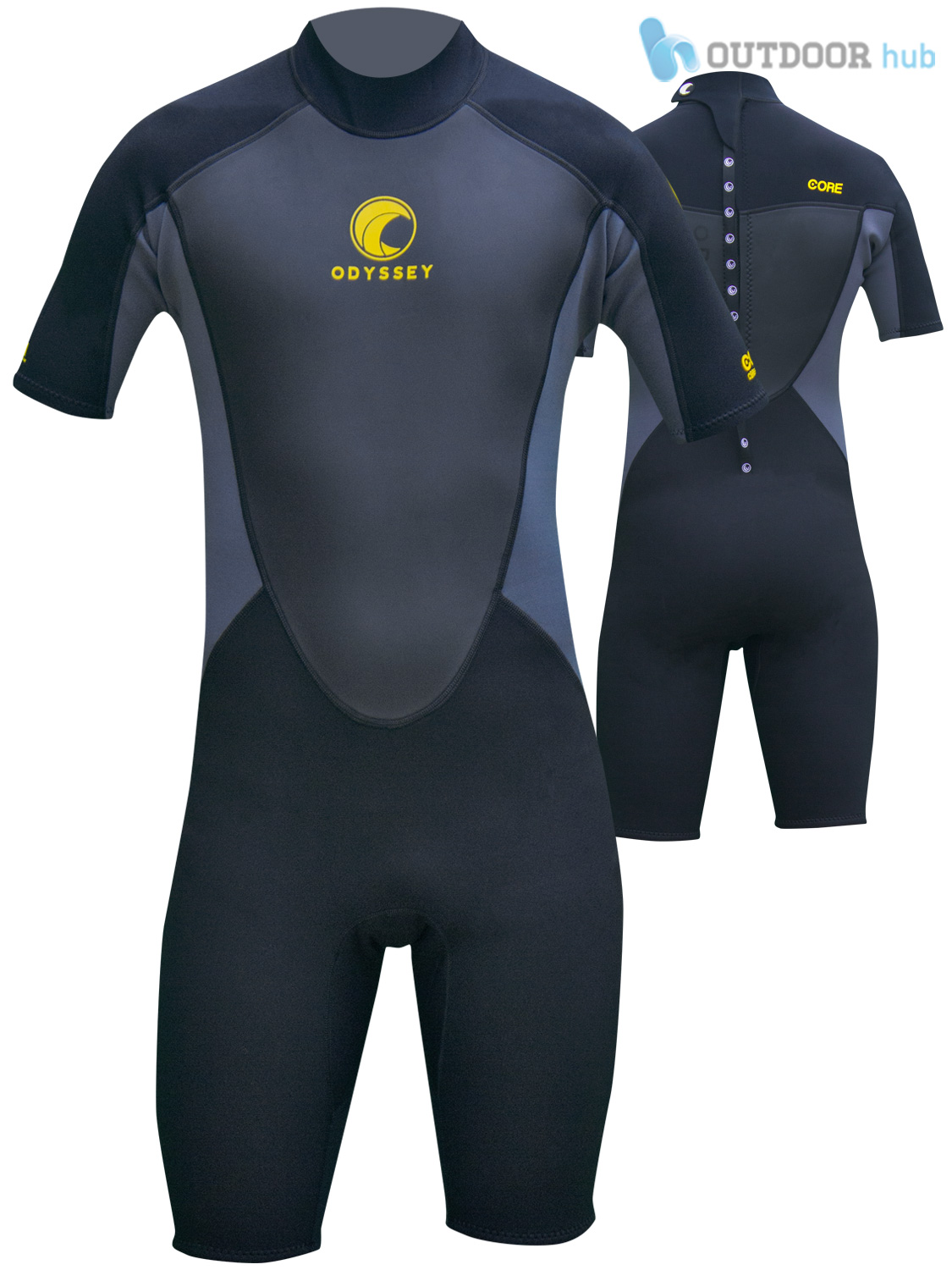 Odyssey Core 2mm 3 / 2mm Core Combinaison Surf Shorty Homme Nager Wetsuit Kayak S-XXL dded08