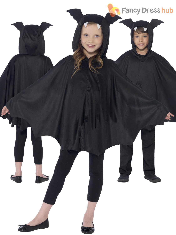 kids halloween black bat spider cape cloak boys