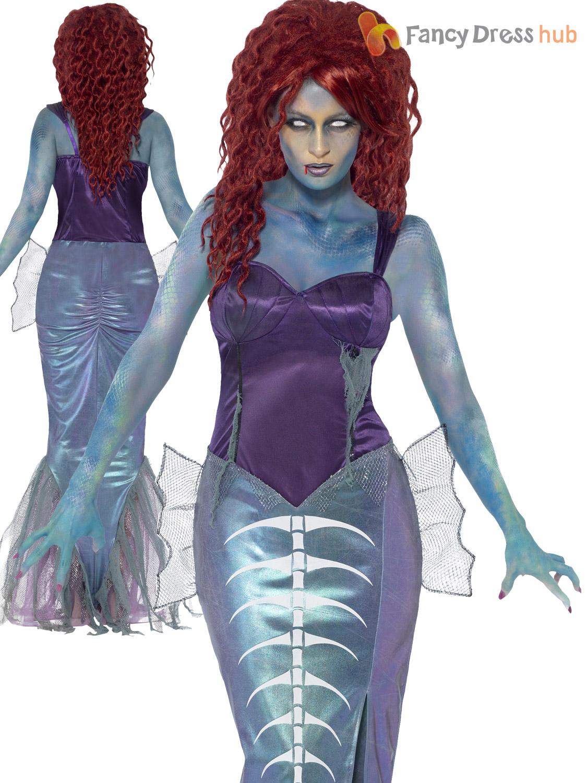 Captivating Size 8 18 Deluxe Ladies Zombie Mermaid Costume