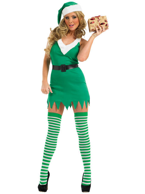 Ladies Flirty Elf Costume