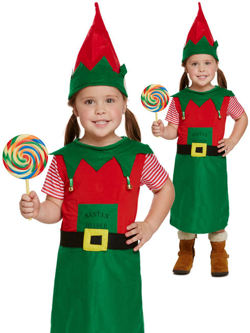 Girl's Toddler Santa's Little Helper Costume