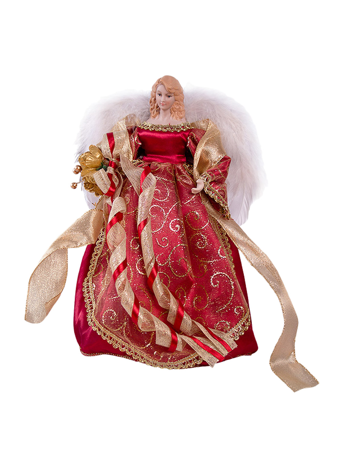 Christmas angel fairy tree topper 12 or16 inch gold silver for Where can i buy a red christmas tree