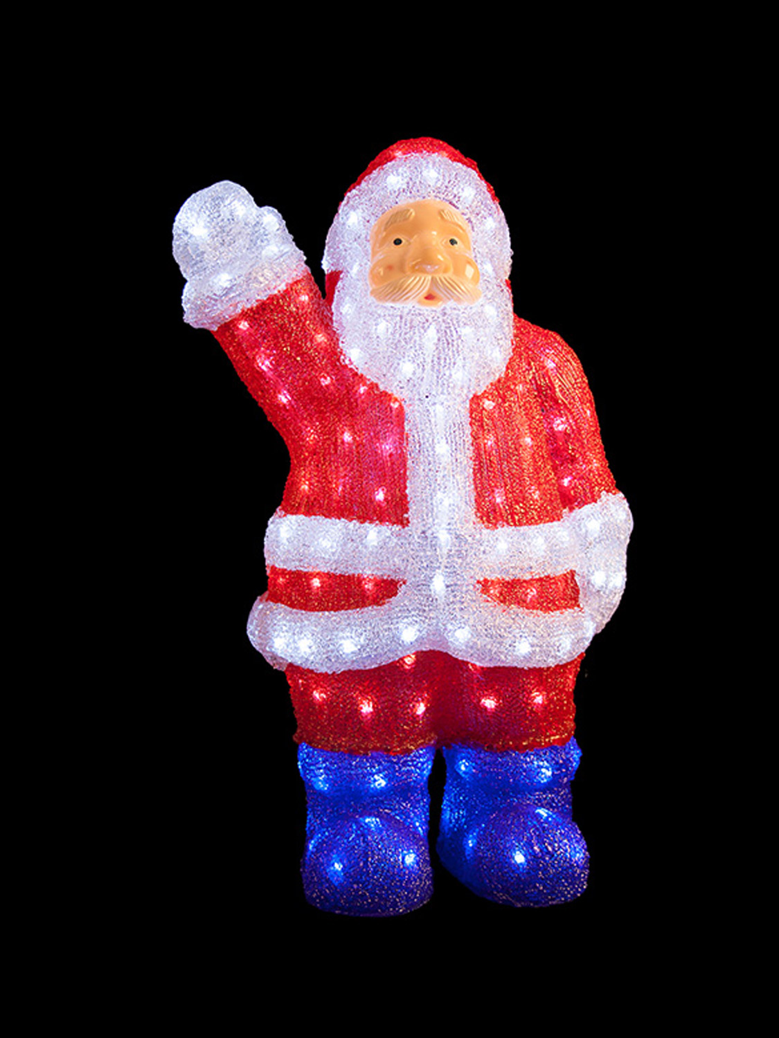 Light up acrylic santa snowman reindeer christmas outdoor for Acrylic decoration