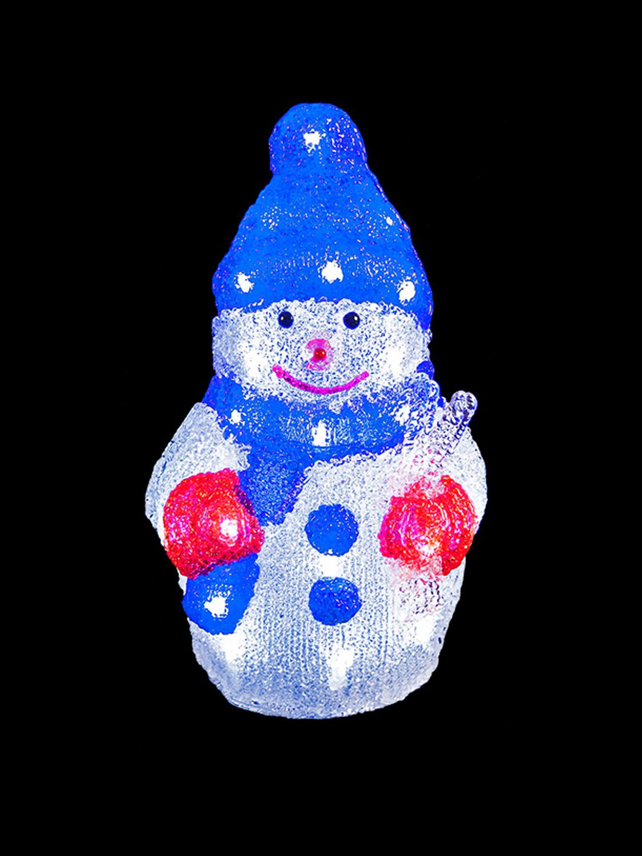 Les chiffres de no l acrylique led allumer 3d santa - Bonhomme de neige decoration exterieure ...