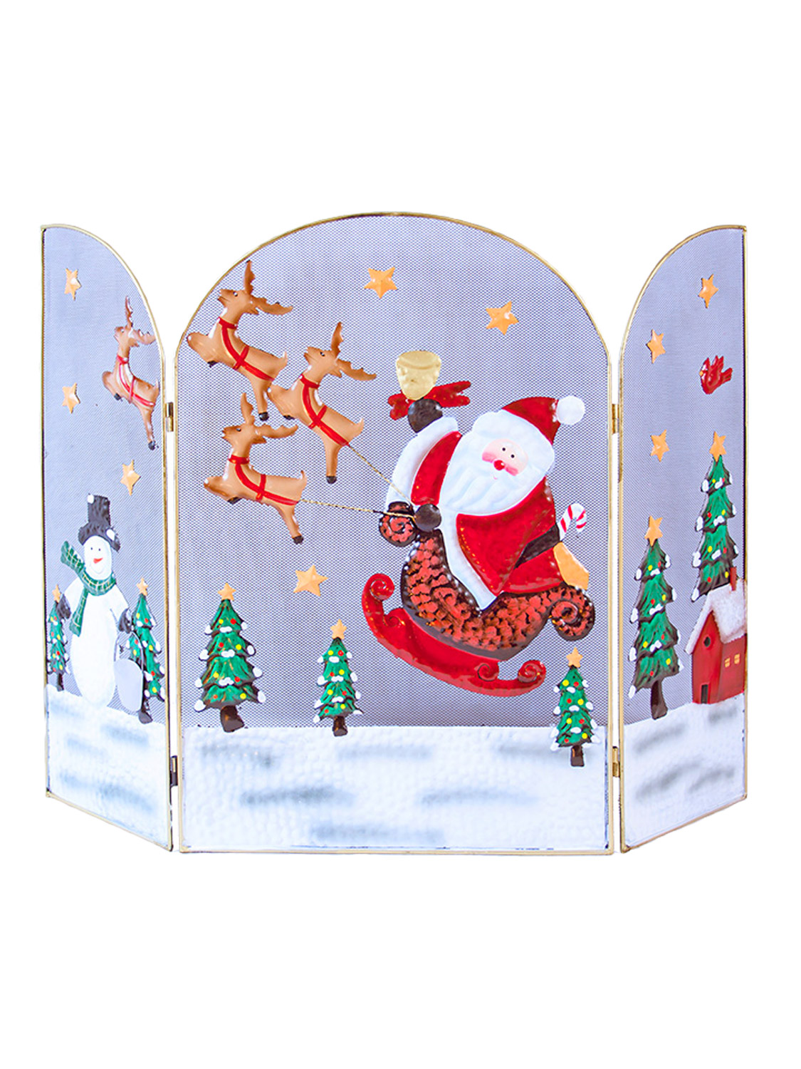 the christmas workshop 63 cm santa and sleigh with snowman
