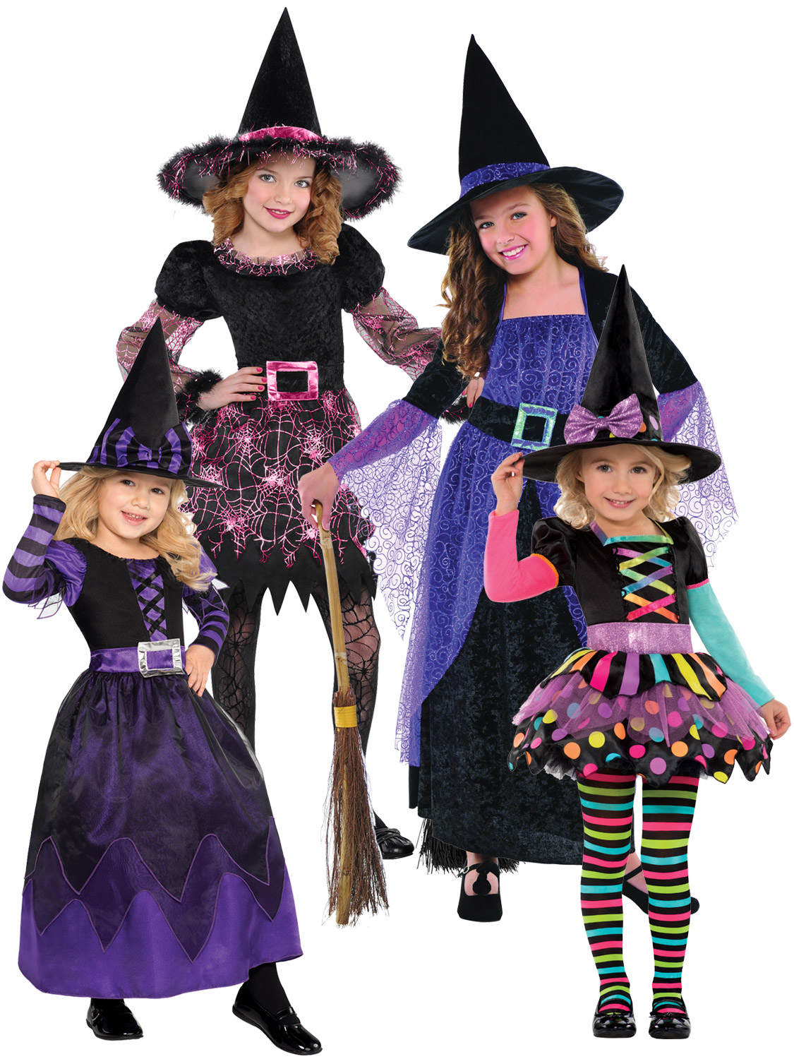 Halloween Costumes For Girls Age 10.Details About Age 3 10 Girls Halloween Witch Fancy Dress Costume Kids Childrens Party Witches