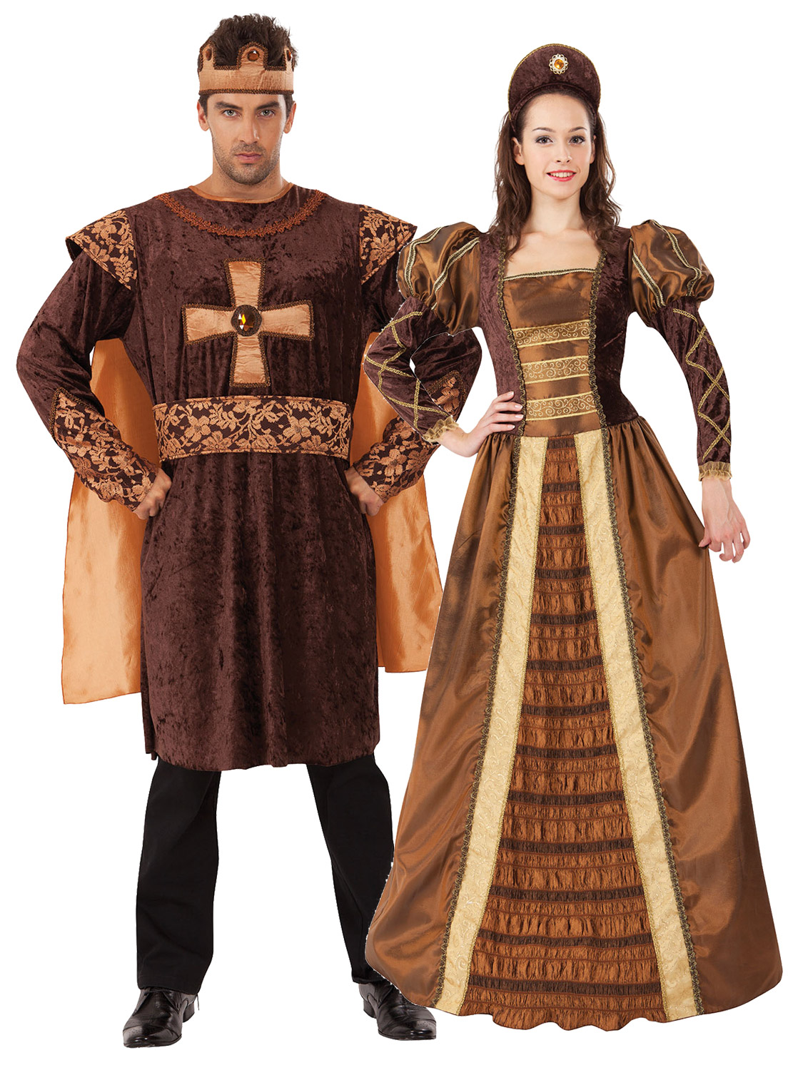 King Queen Costume Medieval Historical Fancy Dress Couples. Image 2