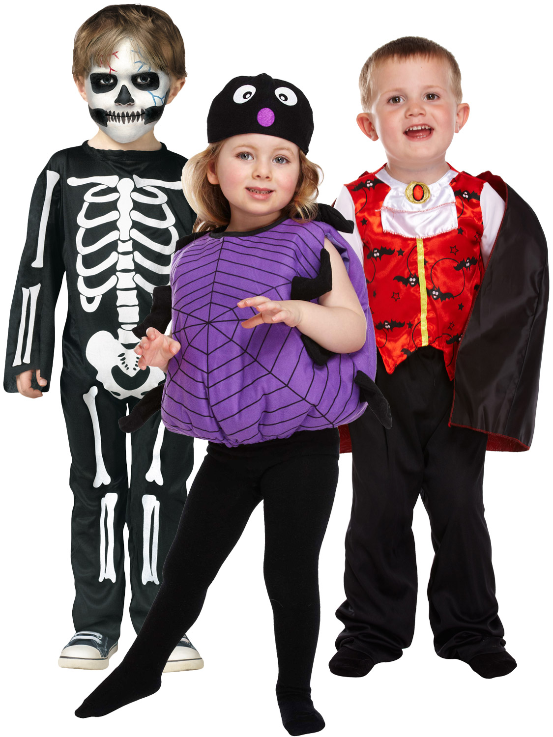 Details about Age 2,3 Toddler Halloween Costume Vampire Skeleton Fancy  Dress Kids Boys Girls