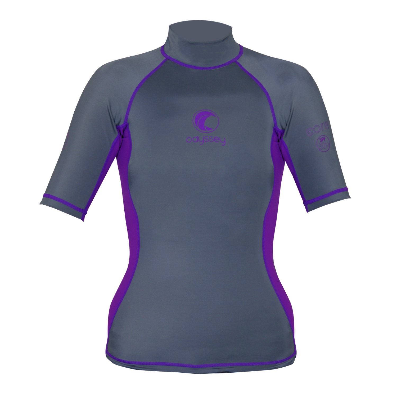 Odyssey-Ladies-Short-Sleeve-Rash-Vest-Womens-Surf-T-Shirt-UV50-Protection-Guard thumbnail 16