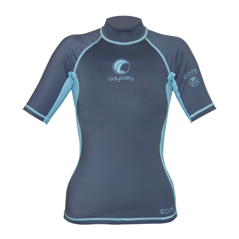 Odyssey-Ladies-Short-Sleeve-Rash-Vest-Womens-Surf-T-Shirt-UV50-Protection-Guard thumbnail 6