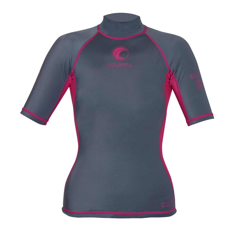 Odyssey-Ladies-Short-Sleeve-Rash-Vest-Womens-Surf-T-Shirt-UV50-Protection-Guard thumbnail 11