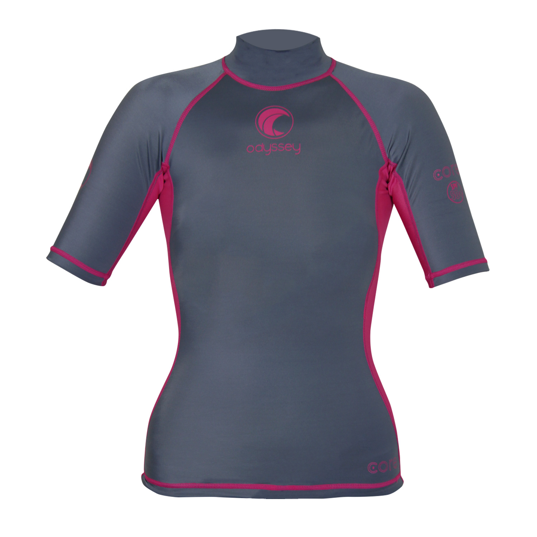 Odyssey-Ladies-Short-Sleeve-Rash-Vest-Womens-Surf-T-Shirt-UV50-Protection-Guard thumbnail 13
