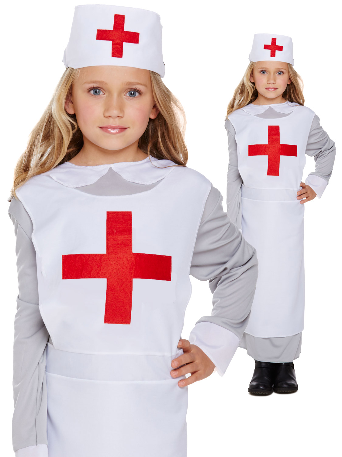 b246fda0e66f0 Girl's WWI Nurse Costume | All Children | Fancy Dress Hub