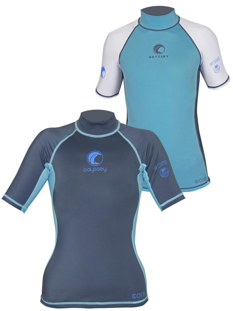Junior & Ladies Odyssey Core Aqua SS Rashvest