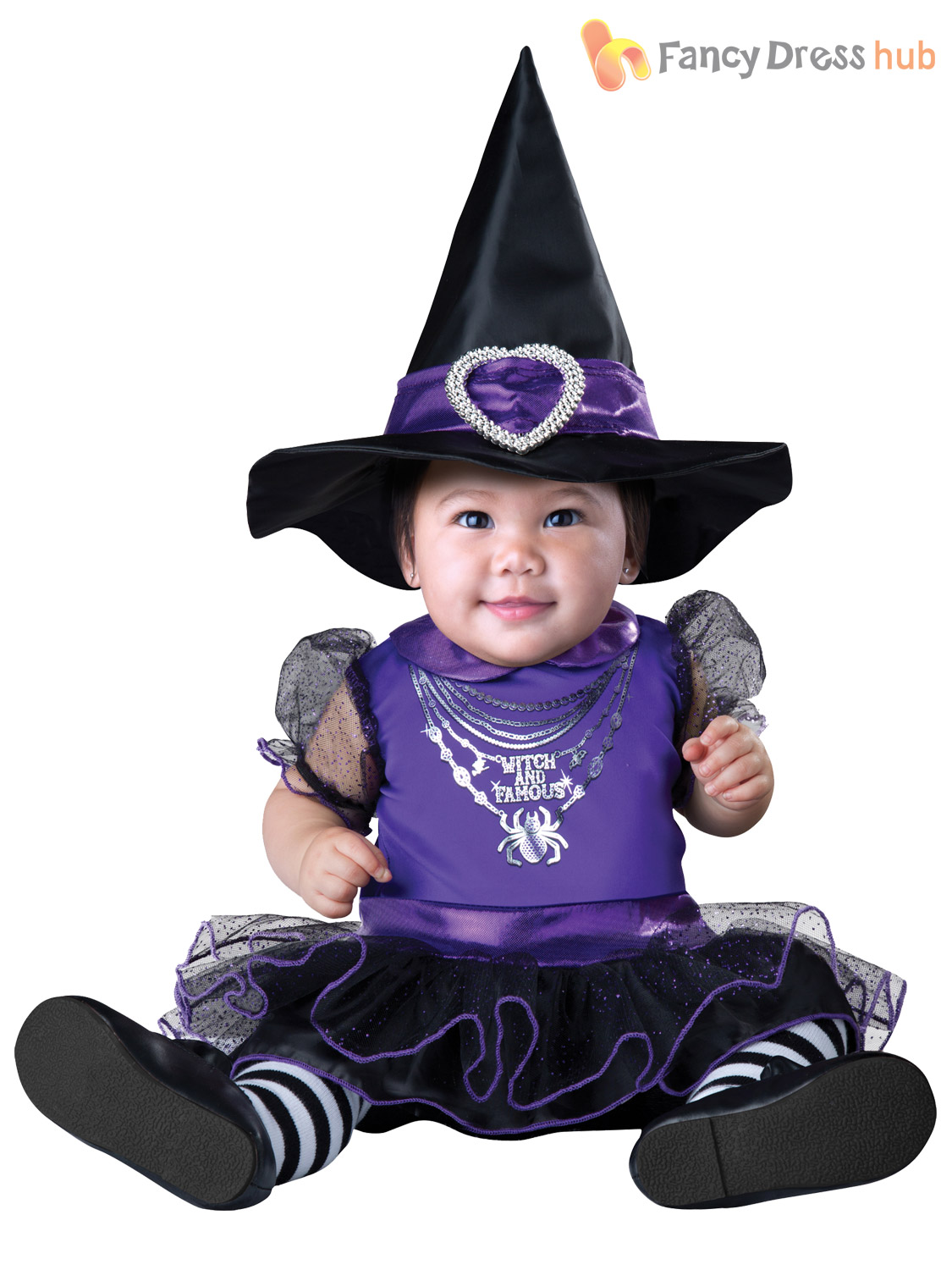 Baby-Girls-Cute-Witch-Pumpkin-Halloween-Fancy-Dress-  sc 1 st  eBay : cute toddler witch costume  - Germanpascual.Com