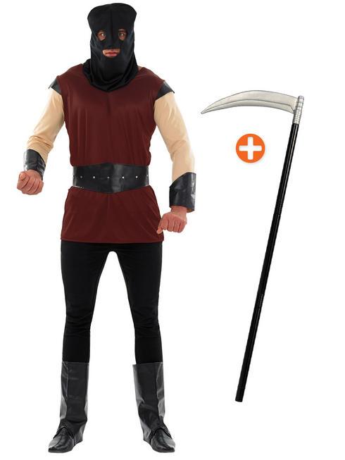 Men's Executioner Costume & Scythe