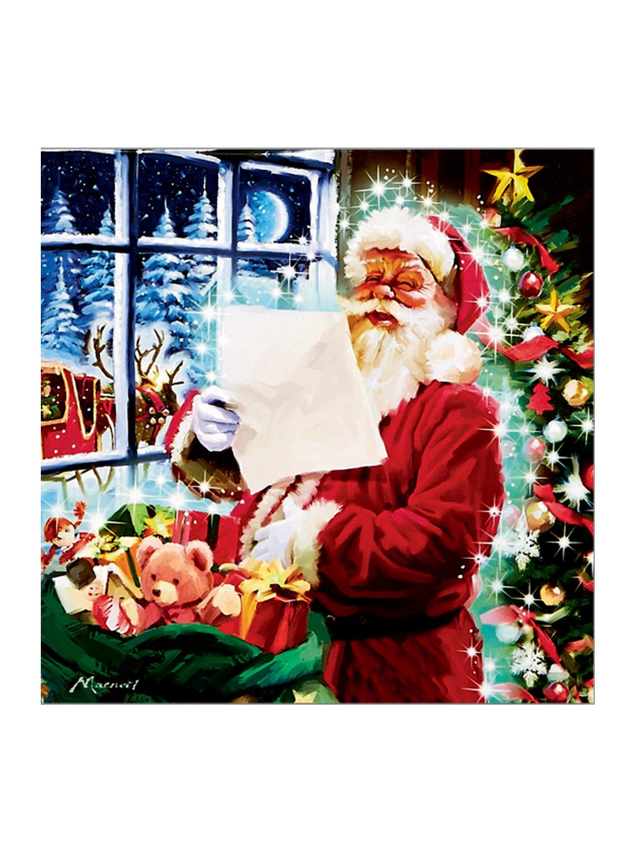 light up christmas canvas scene led fibre optic