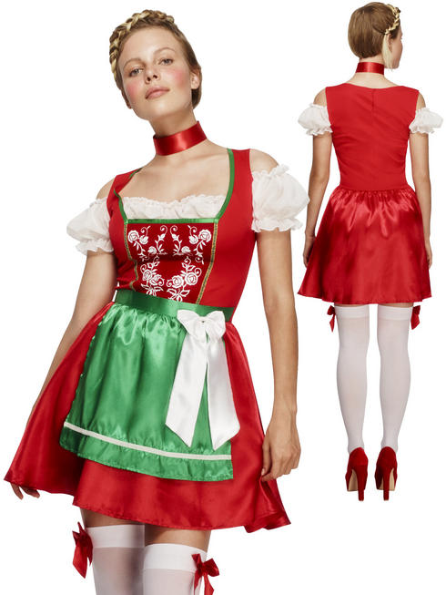 Ladies Fever Christmas Dirndl Costume