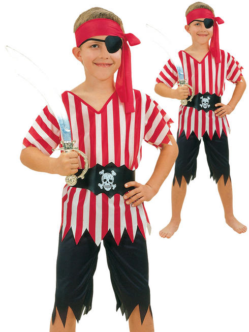 Boys Striped Pirate Costume