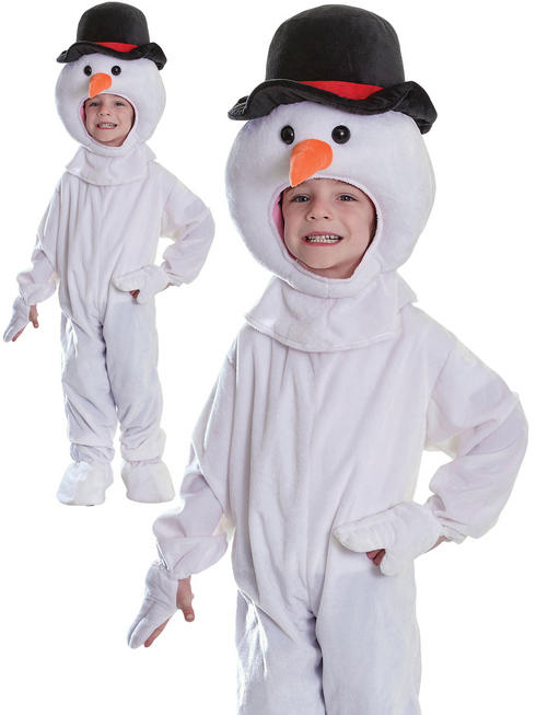 Kids Plush Snowman Costume