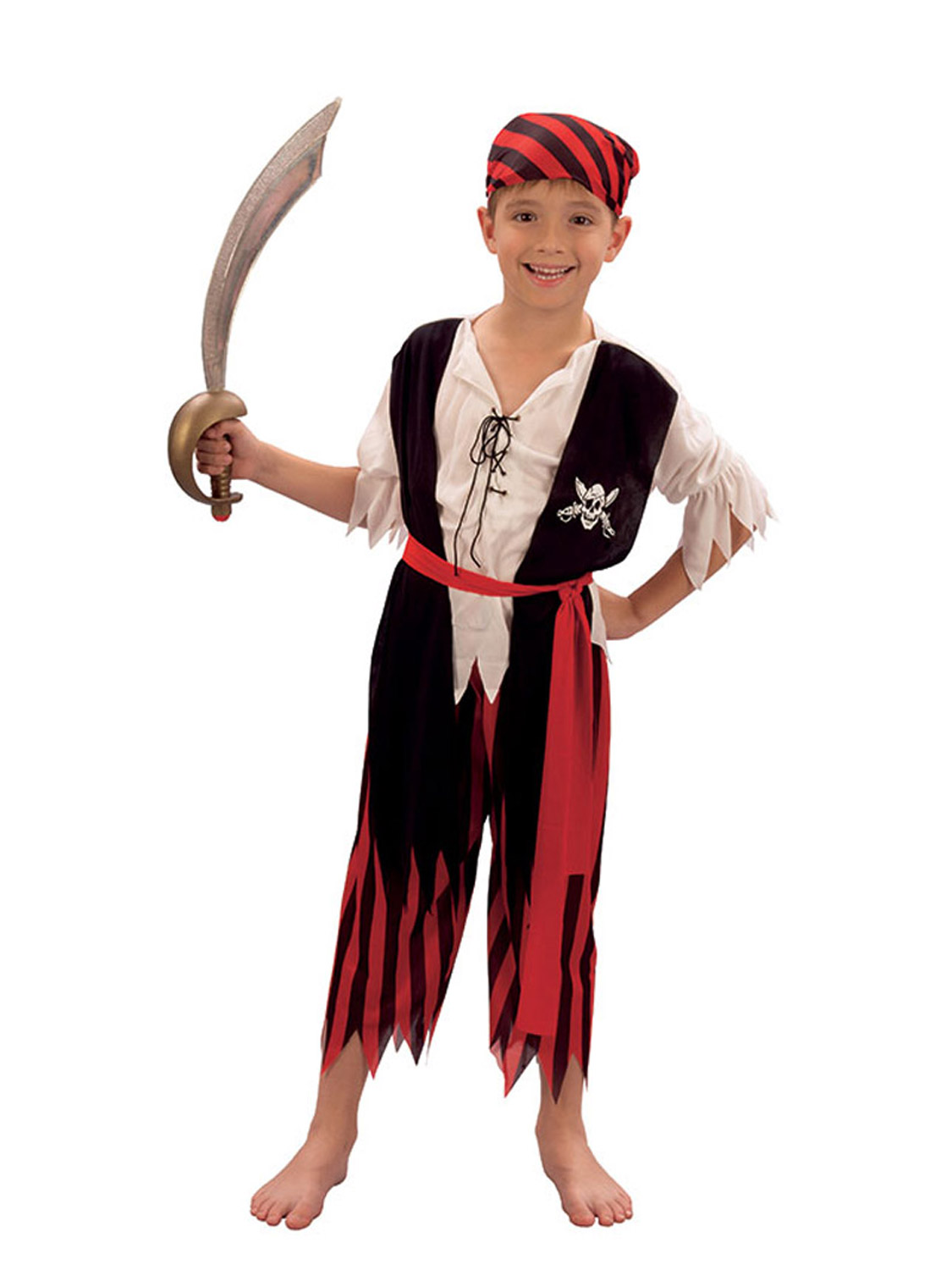 b9d3ceb2 Details about Boys Pirate Costume Kids Caribbean Fancy Dress Outfit Age 4 5  6 7 8 9 10 11 12